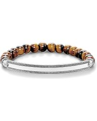 Thomas Sabo | Love Bridge Tiger's Eye And Silver Bracelet | Lyst