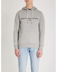 Tommy Hilfiger - Logo-embroidered Cotton-jersey Hoody - Lyst