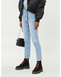 The Kooples - Stud-embellished Slim-fit Tapered Mid-rise Jeans - Lyst