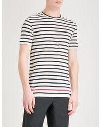 Ralph Lauren Purple Label - Breton Striped Cotton-jersey T-shirt - Lyst