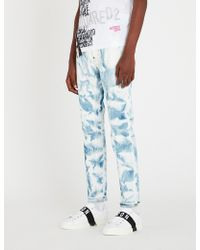 DSquared² - Bleach Wash Skinny Trousers - Lyst