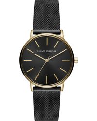 Armani Exchange - Ax5548 Lola Stainless Steel And Leather Watch - Lyst