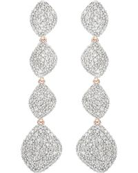 Rose Gold Nura Double Teardrop Cocktail Earrings Diamond Monica Vinader hvC95pzM