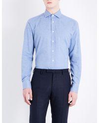 Smyth & Gibson - Albany Brushed Cotton-twill Shirt - Lyst