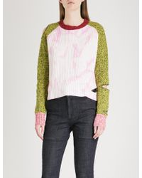 Zoe Jordan - Akar Cutout Wool And Cashmere-blend Jumper - Lyst