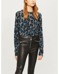 Zadig & Voltaire - Justy Leopard-print Cashmere Jumper - Lyst