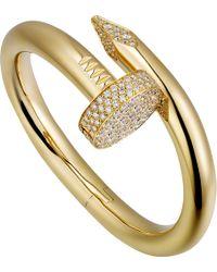 Cartier - Juste Un Clou 18ct Yellow-gold And Diamond Bracelet - Lyst
