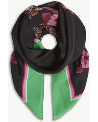 Sandro - Square Printed Silk Scarf - Lyst