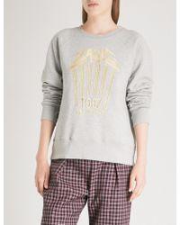 Zadig & Voltaire - Art Is Truth Embroidered Cotton-jersey Sweatshirt - Lyst