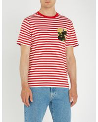 A Bathing Ape - 1st Camo-pocket Striped Cotton-jersey T-shirt - Lyst