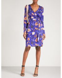 Diane von Furstenberg - Julian Printed Silk Wrap Dress - Lyst