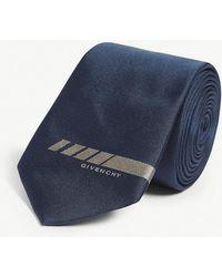 Givenchy - Logo-print Silk Tie - Lyst