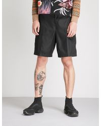 Prada - High-rise Wide Nylon Shorts - Lyst