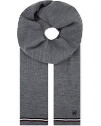 The Kooples - Striped-trim Knitted Scarf - Lyst
