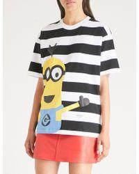 Chocoolate - Minion-print Striped Cotton-jersey T-shirt - Lyst