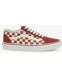 Vans - Old Skool Checkerboard Trainers - Lyst