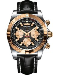 Breitling - Cb011012/b968/744p Chronomat 18ct Rose-gold And Alligator-leather Watch - Lyst