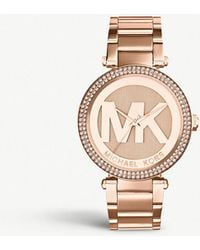 Michael Kors - Mk5865 Parker Rose-gold Pvd Plated Stainless Steel Watch - Lyst