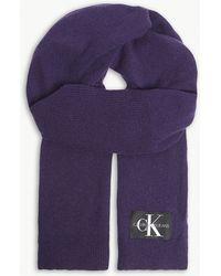 Calvin Klein - Knitted Scarf - Lyst