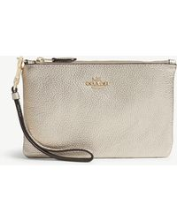 COACH - Small Leather Wristlet - Lyst
