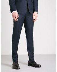 Thomas Pink - Hamilton Birdseye-pattern Slim-fit Wool Trousers - Lyst