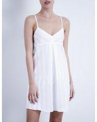 Bodas - Shadow Stripe Cotton Nightdress - Lyst