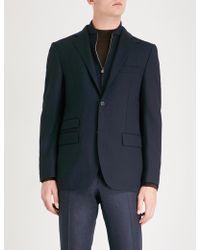 Corneliani - Detachable Panel Regular-fit Stretch-wool Jacket - Lyst