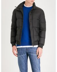 Emporio Armani - Hodded Padded Shell-down Jacket - Lyst