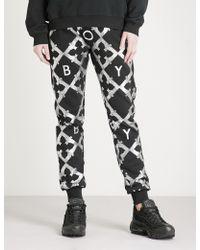 BOY London - Echo Eagle-print Cotton-jersey Jogging Bottoms - Lyst