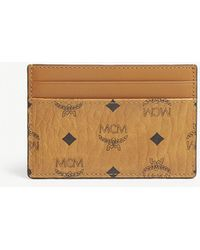 MCM - Visetos Coated Canvas Card Holder - Lyst