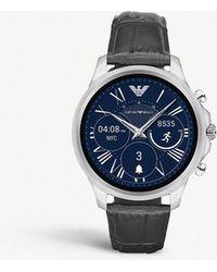 Emporio Armani - Art7000 Alberto Embossed Crocdile Leather Touchscreen Smartwatch Strap - Lyst
