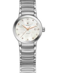 Rado - R30027923 Centrix Mother-of-pearl And Stainless Steel Watch - Lyst