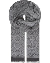 Eton of Sweden - Geometric Modal And Cotton-blend Scarf - Lyst