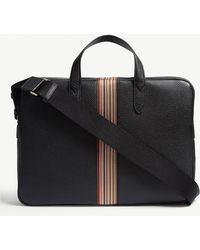 Paul Smith - Multi-stripe Grained Leather Briefcase - Lyst