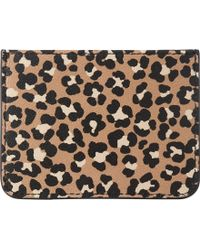 L.K.Bennett - Kasia Leopard-print Grained Leather Card Holder - Lyst