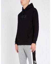 5e211dd7d18b Tommy Hilfiger - Logo-embroidered Cotton-blend Fleece Hoody - Lyst