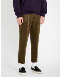The Kooples - Stretch-velvet Regular-fit Trousers - Lyst