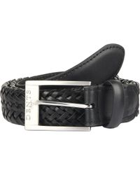 Dents - Plaited Leather Belt - Lyst