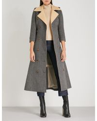 Khaite - Charlotte Checked Wool Trench Coat - Lyst