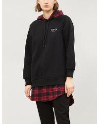 5cm - Checked-underlay Jersey Hoody - Lyst