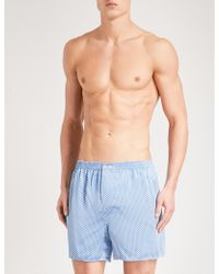 Zimmerli | Patterned Relaxed-fit Silk Boxer Shorts | Lyst