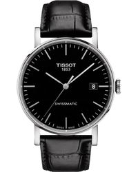 Tissot - T109.407.16.051.00 Everytime Stainless Steel And Leather Watch - Lyst