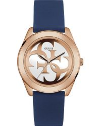 Guess - W0911l6 G Twist Gold-plated And Silicone Watch - Lyst