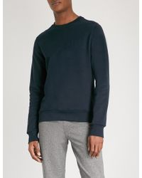 CALVIN KLEIN 205W39NYC - Kapler Logo-embossed Cotton-jersey Sweatshirt - Lyst