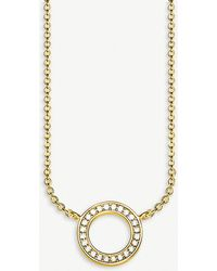 Thomas Sabo - Circle 8ct Yellow Gold-plated Sterling Silver Necklace - Lyst