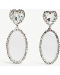 Alessandra Rich - Crystal Drop Earrings - Lyst