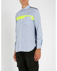 Junya Watanabe - Checked And Striped Regular-fit Cotton And Shell Shirt - Lyst