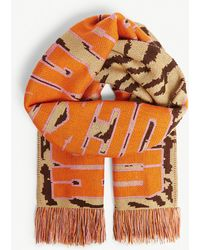 House of Holland - Logo Tiger Stripe Knitted Scarf - Lyst