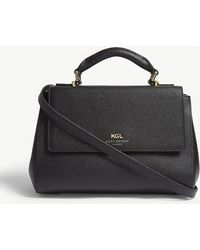 Kurt Geiger - Black Textured Richmond Leather Satchel - Lyst