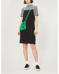 Izzue - T-shirt Underlay Slogan-strap Cotton-jersey Dress - Lyst